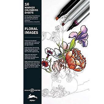 Floral Images: Marker Colouring Sheets