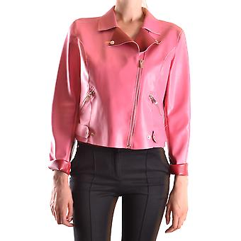 Twin-set Pink Leather Outerwear Jacket