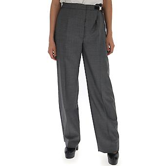 Pantalones de lana gris de Prada