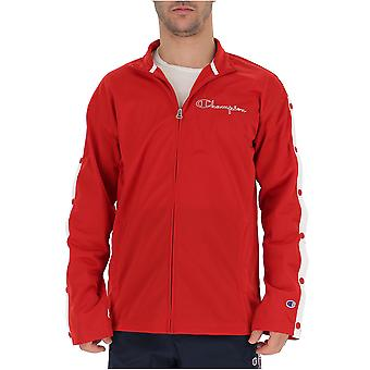 Champion Red Nylon Sweatshirt