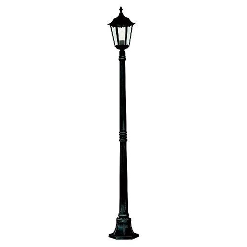 Searchlight 82508BK Alex Traditional 1.83m Black Outdoor Lamp Post IP44