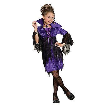 Tovenares heks jurk kostuum paarse heks kostuum voor kinderen
