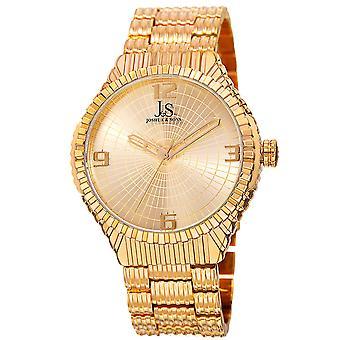 Joshua & Sons Men's Quartz Watch with Etched Dial and Etched Bracelet JS99YG