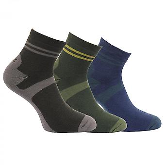 Regatta Mens Active Lifestyle Quick Drying 3Pack Walking Socks