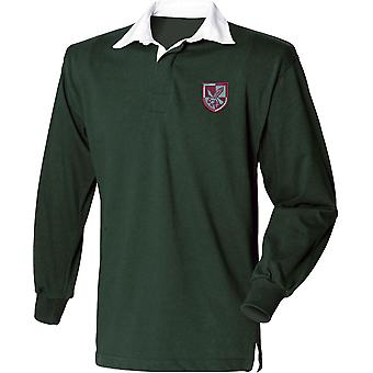 16 Air Assault Brigade - Licensed British Army Embroidered Long Sleeve Rugby Shirt