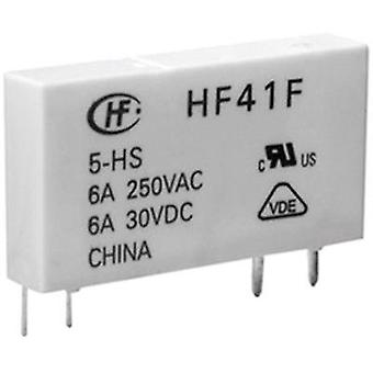 PCB relays 5 Vdc 6 A 1 change-over Hongfa HF41F/00