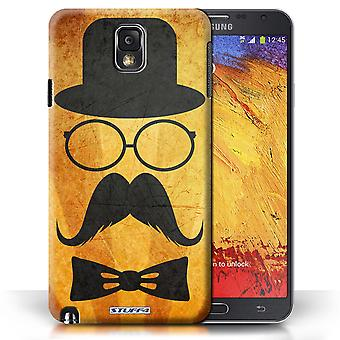 STUFF4 Case/Cover for Samsung Galaxy Note 3/Handlebar/Glasses/Retro Moustache