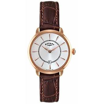 Rotary Ladies Brown Leather Watch Strap LS02919/03