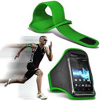( Green ) Samsung Galaxy J3 Pro case High Quality Fitted Sports Armbands Cover By i-Tronixs