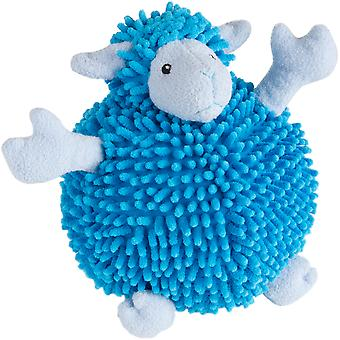 Trusty Pup Fuzzy Wuzzy Sheep-Blue Large 774060
