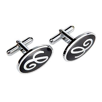 Marcell Sanders men's cufflinks oval black
