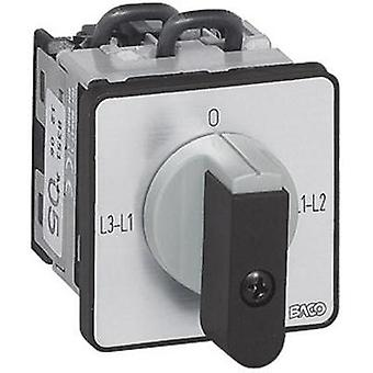 Voltmeter changeover switch 16 A 360 ° Grey, Black BACO NY31AQ1 1 pc(s)