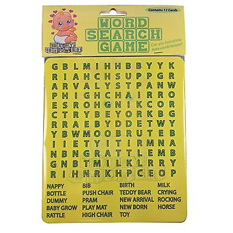 Baby Shower Pack of 12 Word Search Game