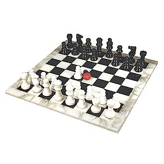 Black & White Alabaster Chess Set