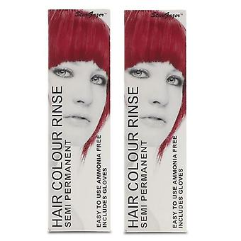 Stargazer Semi-Permanent Hair Colour Dye ROUGE (2-Pack)