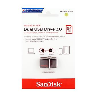 SanDisk 64GB Android Ultra Dual USB 3.0 Flash Drive. - SDDD2-064G-GAM46