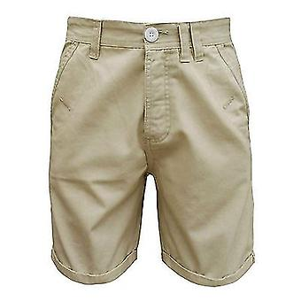 Soul Star Men's Melton Chino Turn Up Casual Cotton Shorts