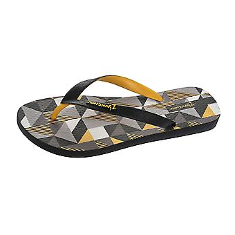 Ipanema Cubes Mens Flip Flops / Sandals - Black and Yellow