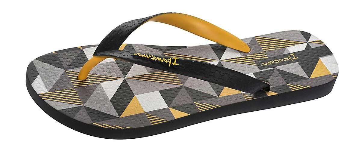 Black and Sandals Yellow Flops Cubes Flip Ipanema Mens XYxwB7q