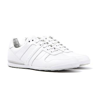 BOSS Green Arkansas White Low Top Leather Trainers
