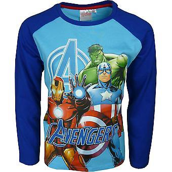 Мальчики Marvel Мстители длинным рукавом футболки \ Топ