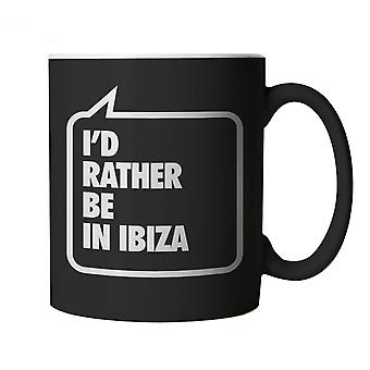 Vectorbomb, I'd Rather be In Ibiza, Funny Black Novelty Mug