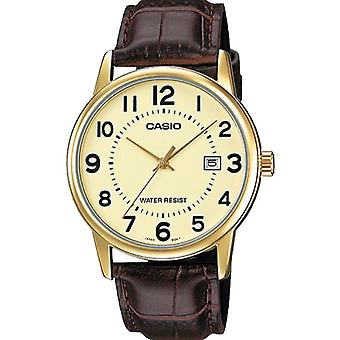 Casio Leather Mens Watch MTP-V002GL-9BUDF