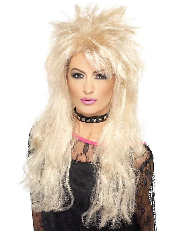 80s lenge mullet parykk blonde