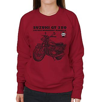 Haynes Owners Workshop Manual Suzuki GT 380 vrouwen Sweatshirt Triple