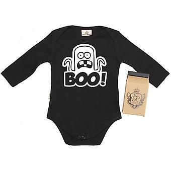 Spoilt Rotten BOO Baby Grow 100% Organic In Milk Carton