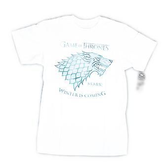 Game Of Thrones Winter Is Coming Men's White T-shirt