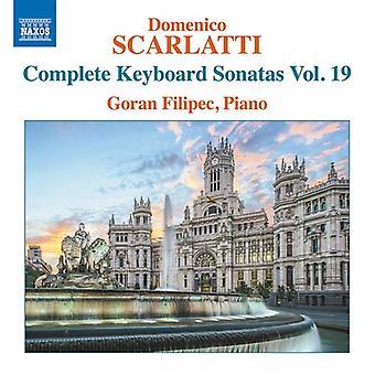 Scarlatti / Filipec - Domenico Scarlatti: Complete Keyboard Sonatas 19 [CD] USA import