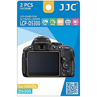 JJC vakt Film Crystal Clear Screen Protector for Nikon D5300 - ingen kutte (2 Film pakke)