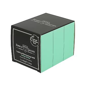 Edwin Jagger Traditional Shaving Soap Cooling Menthol 65g 3 pack