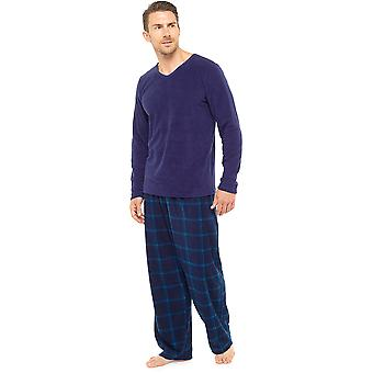 Tom Franken Mens warme Fleece Pyjama Loungewear