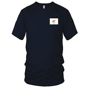 Cyprus Country National Flag - Embroidered Logo - 100% Cotton T-Shirt Mens T Shirt