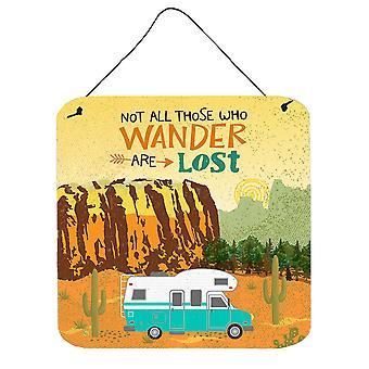 RV Camper Camping Wander Wall or Door Hanging Prints