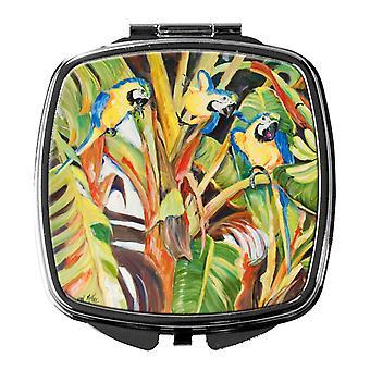 Carolines Treasures  JMK1281SCM Parrots Compact Mirror