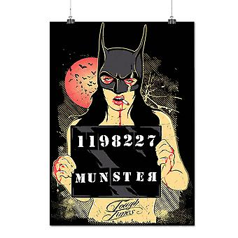 Matte or Glossy Poster with Bat Monster Night Fantasy | Wellcoda | *d126