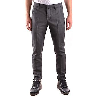 Dondup mens UP235FS116UXXX998 gray wool pants