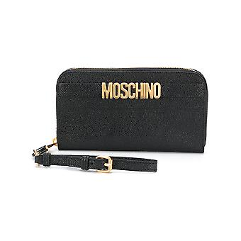Moschino ladies A812580090555 black leather wallets