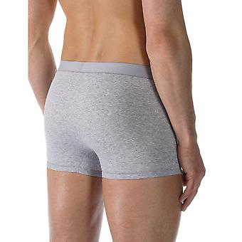 Mey 49128-620 Men's Casual Cotton Grey Solid Colour Fitted Boxer