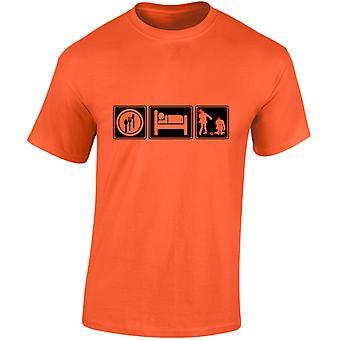 Eat Sleep Zombie Mens T-Shirt 10 Colours (S-3XL) by swagwear