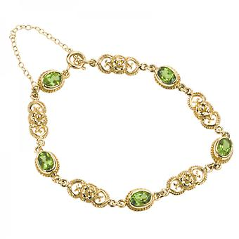 Shipton and Co Ladies Shipton And Co Exclusive 9ct Yellow Gold And Peridot Bracelet AY1622PE