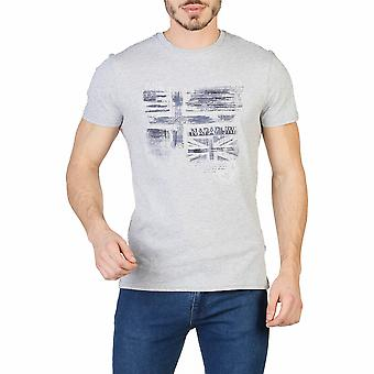 Napapijri Men T-shirts Grey