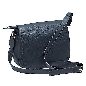 Burgmeister ladies shoulder bag T228-211 leather blue-grey