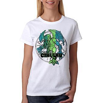 Warpo Cthulhu nødlidende kvinder hvid T-shirt