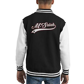Mo Salah Baseball Style Text Kid's Varsity Jacket