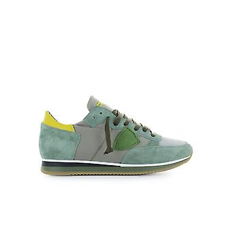 PHILIPPE MODEL TROPEZ MONDIAL GREEN YELLOW SNEAKER
