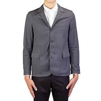 Prada Men's Lightweight Cotton Three-Button Sportscoat Grey